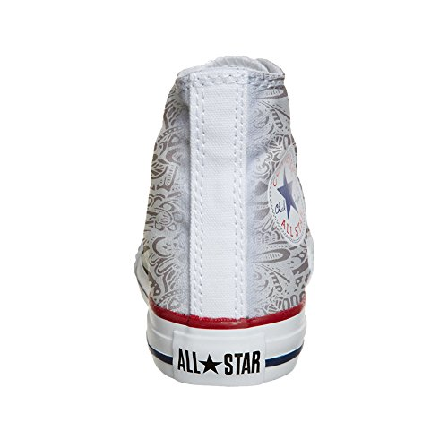Converse All Star Hi chaussures coutume (produit artisanal) Damask Paisley osEFHkRn8K