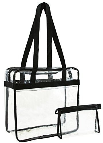 Ensign Peak Clear Zipper Tote with Accessory Pouch - NFL, PGA Golf, Security Event Complaint - 12 x 12 x 6