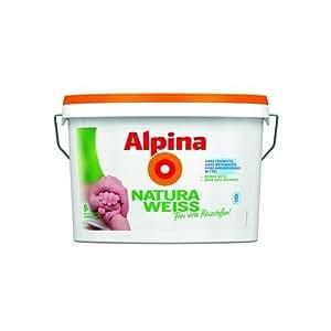 Alpina NaturaWeiss - Pintura apta para alérgicos - 5 L - Color blanco mate