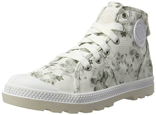Palladium Pallabrouse Mid Lp, Zapatillas para Mujer Blanco (White/moonbeam/floral Print)