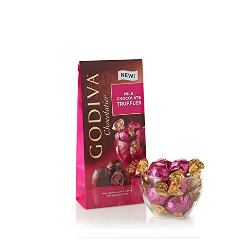 Godiva Chocolatier Milk Chocolate Truffles Gift Box, Gift Pack, Great for Gifting, Chocolate Treats, 19 pc