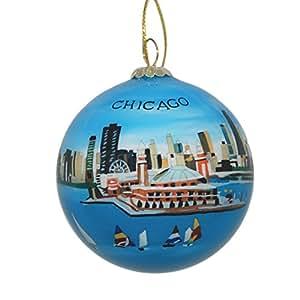 share facebook twitter pinterest - Chicago Christmas Ornaments