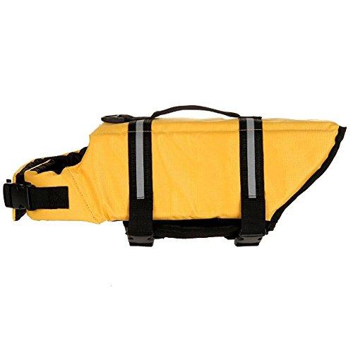Domybest Dog Saver Life Jacket Vest Pet Preserver Aquatic Safety Yellow L