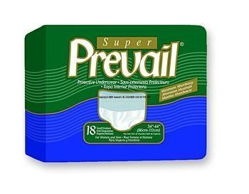Units Per Case 72 Prevail Protective Underwear - Regular and Super Absorbency Green First Quality PVS512 by First Quality Absorbency Units