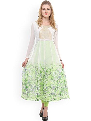 Kurta Women White Fashion Angel Anarkali Print Dress Dream Floral awqgZvPv1