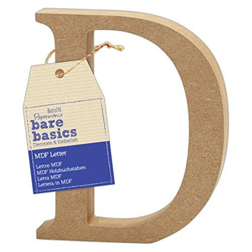 MDF Letter (1 Piece) – Bare Basics – D