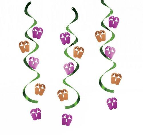 Flip Flop Decorations (Dizzy Danglers Hanging Party Décor, Flip Flops)