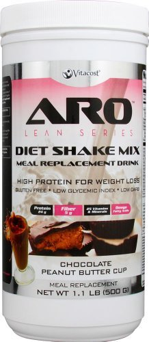 ARO-Vitacost Lean Series Diet Shake Mix Chocolate Peanut Butter Cup -- 1.1 lbs (500 g) by ARO-Vitacost by ARO-Vitacost