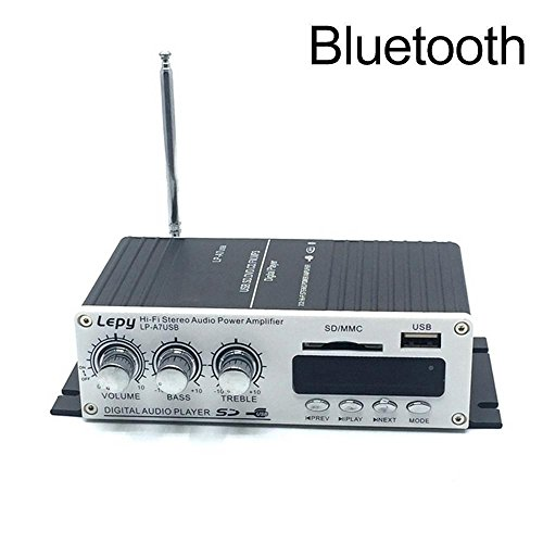 Teepao Mini Amplifier Bluetooth 4.2 Digital 2 Channel 20W HiFi Amp Super Bass with Blue LED Indicator DC 12V 2A for Home Car