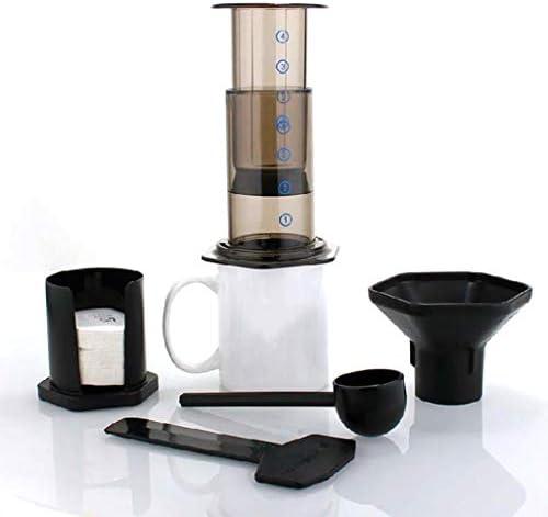 Queenhairs Nuevo filtro de vidrio espresso café portátil café ...