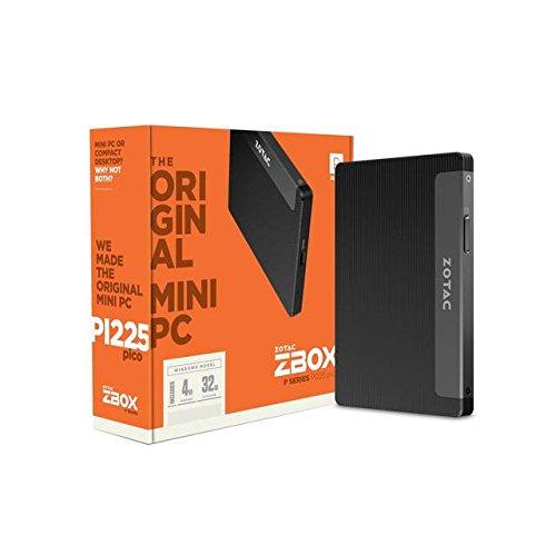 ZOTAC ZBOX-PI225-W2B Intel N3350 1.10GHz/ 4GB LPDDR3/ 32GB eMMC/ No ODD/ Windows 10 Home Mini PC / ZBOX-PI225-W2B /