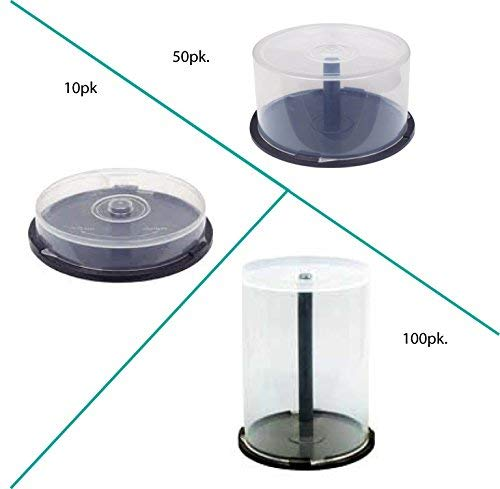 EMPTY CD/DVD CAKE BOX SPINDLE -50 - Cake Box 50 Disc