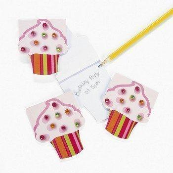 12 Piece Cupcake Jewels Notepad Party Favor Set ()