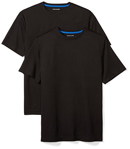 Amazon Essentials Men's 2-Pack Performance Mesh Short-Sleeve T-Shirts