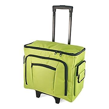 Bolsa de deporte con ruedas para máquina de coser de abedul 47 x 38 x 24 cm - verde: Amazon.es: Hogar