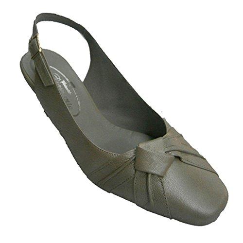en Ouverte largeur noeud motif bout à spéciale chaussure fermé Vazquez métallique derrière Pomares de U5q707