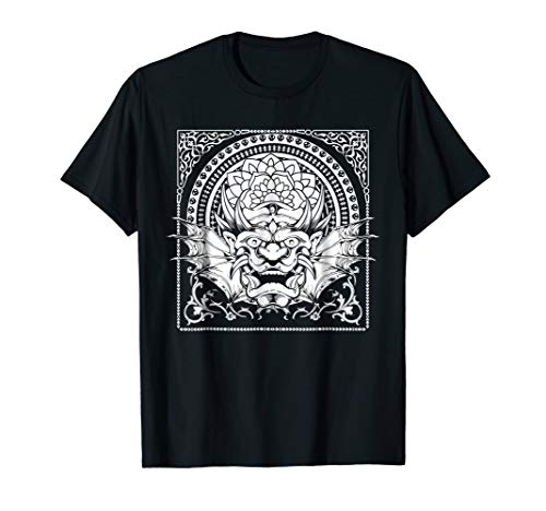 - Tribal Asian Chinese Dragon Skull Tattoo T-Shirt