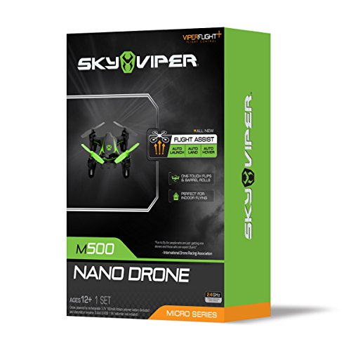 Sky Viper m500 Nano Drone - AUTO Launch, Land, Hover