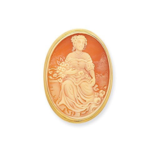 Jewelry Adviser 14K 45mm Shell Cameo Pin/Pendant