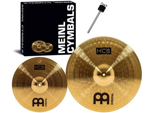 Meinl Cymbals HCS Series 2-Piece Crash Cymbal Pack with Free Stacker