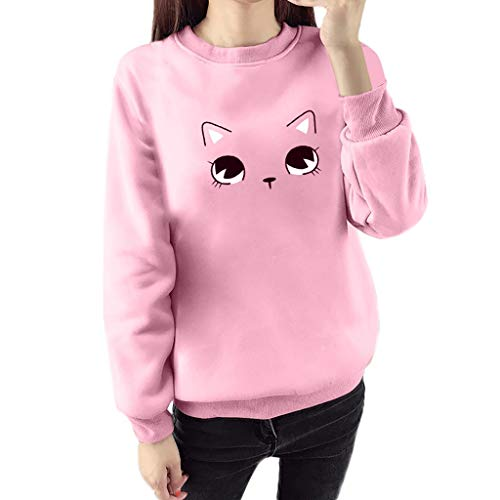 Cute Sweatshirt 855 Londony ♥‿♥ Women's Lovely Printed Hooded Pullover Hoodie Shirt Blouse for Cat Fan Girls