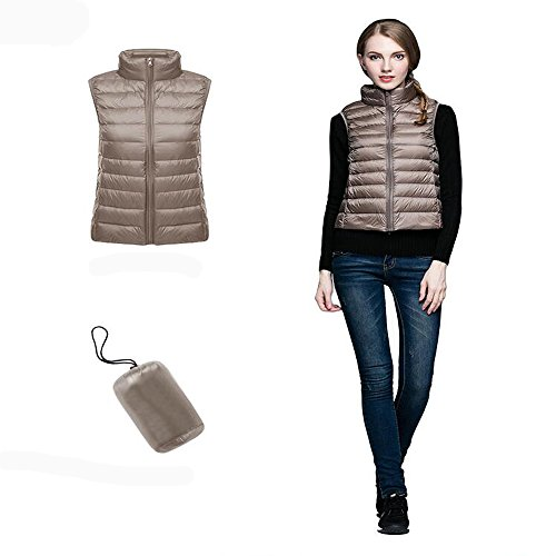 Tan Warmer KINDOYO Ultralight Light Women Body Vest Ladies Girls Down Sleeveless Gilet CaUC6wqx7