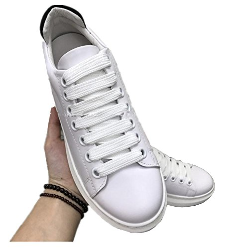 casual 2017 White thick small sports bottom white wild shoes shoes leather sandals single flat shoes aAaBr7q