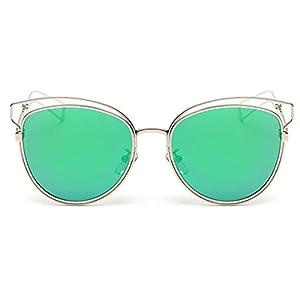 Heartisan Personlized Hollow Metal Cat Eye Frame Full Rim Sunglasses for Womens C6
