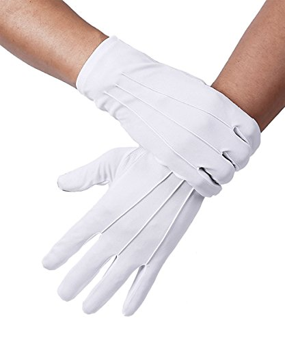 White Cotton Marching Band Gloves Parade Driver Doorman Usher gloves - Usher Uniform