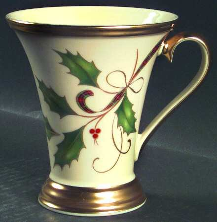 Lenox China Holiday Nouveau-Gold Accent Mug, Fine China