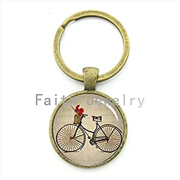 Key Chains - Vintage Antique Bicycle Picture Key Chain Brown Black Bike  Keychain Men and Women 447698d842