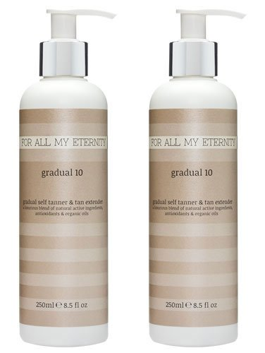 Everyday Gradual Tan Face - For All My Eternity Gradual 10 Lotion Multibuy Deal 2x 250ml / 8.5 fl oz - Luxury Gradual Self Tan. Loaded with Natural Ingredients and Extracts to Help Care For, Moisturize, and Subtly Tan Your Skin