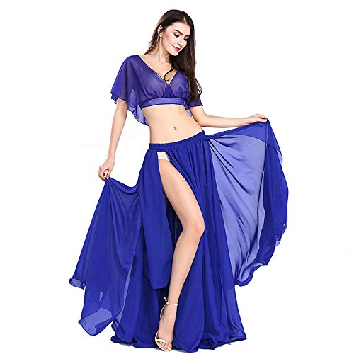 ROYAL SMEELA Belly Dance Costume Set for Women, One Size, Belly Dancing Skirt Belly Dance Dress, 11 Colors Dark -