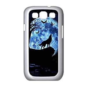 Custom Colorful Case for Samsung Galaxy S3 I9300, Wolf and Moon Cover Case - HL-R663735