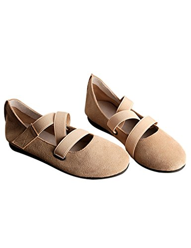 Youlee suave Amarillo Primavera inferior Mujer ballet de Zapatos On7vxCq