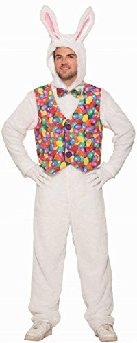 Forum Novelties Unisex-Adult's Standard Easter Bunny Jumpsuit with Vest, as as Shown, Standard]()
