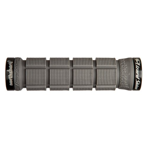 Lizard Skins Lock-On N-Shore Grips, Grey/Black Clamp