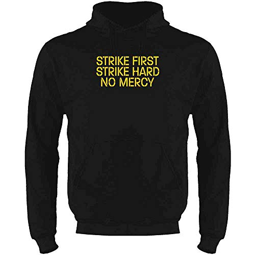 Strike First Hard No Mercy Cobra Kai Karate Kid Black S Mens Fleece Hoodie Sweatshirt -