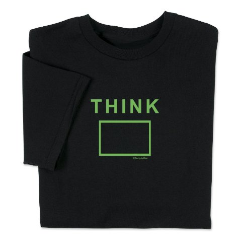 ComputerGear Funny Sayings T Shirt Think Outside the Box Engineer Geek Tee, XL (Smarter Math Charts For)
