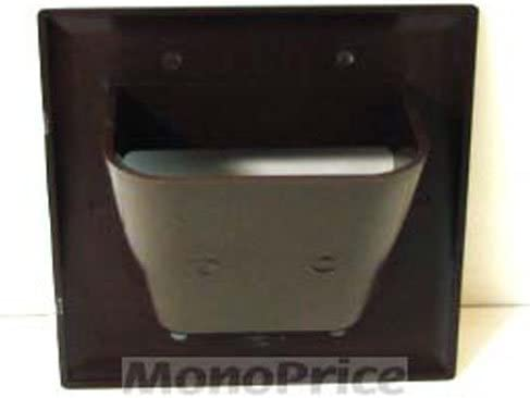 Brown 2-Gang Monoprice 104000 Recessed Low Voltage Cable Wall Plate