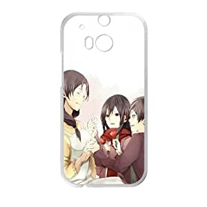 Attack On Titan HTC One M8 Cell Phone Case White Cover protective Skin Shield PJZ003-2304366