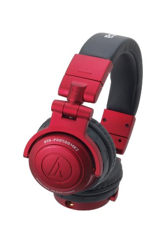 Audio Technica ATH-PRO500MK2 RD RED | DJ Monitor Headphones (Japan Import)