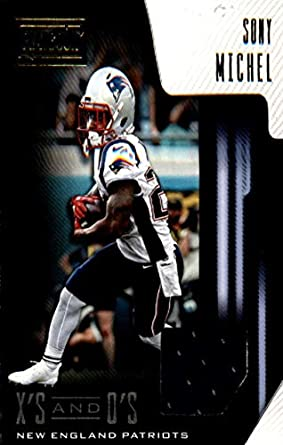 22c9ab92599 2018 Playbook Xs and Os Jerseys Football  1 Sony Michel Jersey Relic New  England