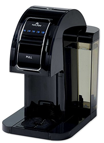 Touch Single Serve Coffee Brewer – Black Coffee Maker with Full K-Cup Pod Compatibility & Rapid Brew Technology – T314B