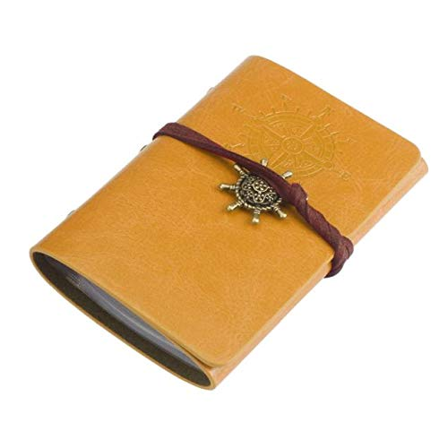Business Wallet-Han Shi Practical Leather Credit ID Card Tie Holder Case Purse (L, Yellow)