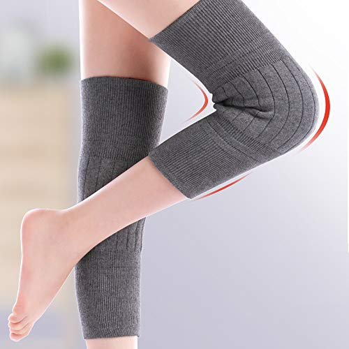 TY BEI Kneepad Kneepad - Cashmere Protection Knee Warm Men and Women Winter Thickening Old Man Cold Leggings Paint wear Joints self-Heating @@ (Color : Black) by TY BEI (Image #3)