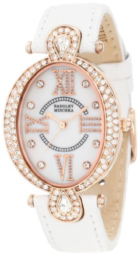 badgley-mischka-womens-ba-1038rgwt-swarovski-crystal-accented-oval-rosegold-tone-white-leather-strap