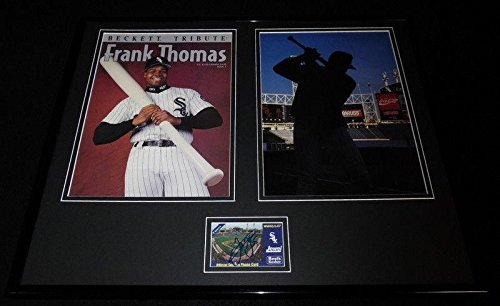 Frank Thomas Autographed Photo - Framed 16x20 Beckett Tribute Display - JSA Certified - Autographed MLB Photos