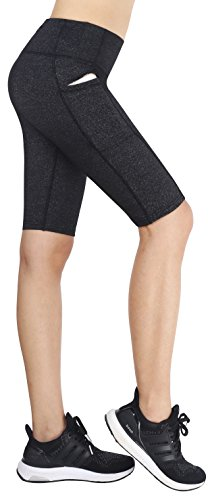 Neonysweets Womens Cycling Running Workout Tights Yoga Shorts Half Tights Gray L