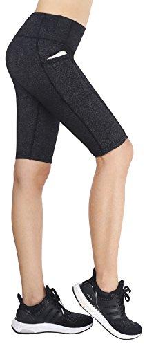 Neonysweets Womens Cycling Running Workout Tights Yoga Shorts Half Tights Gray - Pockets With Women's Shorts Bike